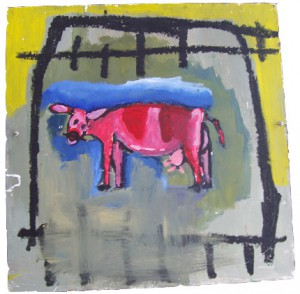 Cow painting by Charlie Harrison