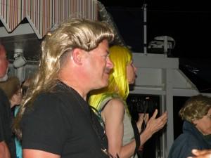 Cruisers wearing wigs